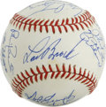 Autographs:Baseballs, 1990 First B.A.T. Dinner Multi-Signed Baseball. The BaseballAssistance Team was created to help former baseball players wh...