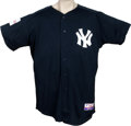 Baseball Collectibles:Uniforms, 2004 Mel Stottlemyre Batting Practice Worn Jersey from Japanese Exhibition. Lifetime Yankee Mel Stottlemyre served as the t...