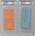 Boxing Collectibles:Autographs, Jack Dempsey and Gene Tunney Signature Cuts lot of 2. Offered here are signatures of the combatants of two of the greatest ...