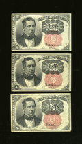 Fractional Currency:Fifth Issue, Fr. 1265 10c Fifth Issue Three Examples.... (Total: 3 notes)