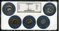 1954 Proof Set Proof Set PR64 thru PR66 NGC. The Set includes; 1954 1C PR66 Red NGC; 1954 5C PR64 NGC; 1954 10C PR66 NGC...