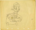 Animation Art:Production Drawing, Donald Duck Animation Production Drawing Original Art (Disney,undated)....