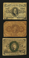 Fractional Currency:First Issue, Three Fractional Notes.. ... (Total: 3 notes)