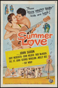 "Movie Posters:Rock and Roll, Summer Love (Universal International, 1958). One Sheet (27"" X 41"").Rock and Roll.. ..."