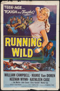 "Movie Posters:Bad Girl, Running Wild Lot (Universal International, 1955). One Sheets (2)(27"" X 41""). Bad Girl.. ... (Total: 2 Items)"