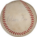 Autographs:Baseballs, Circa 1956 Nellie Fox Signed Baseball....
