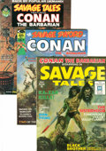 Magazines:Adventure, Savage Sword of Conan Plus Magazine Box Group (Marvel, 1971-80) Condition: Average VF....