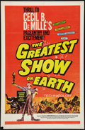 """Movie Posters:Drama, The Greatest Show On Earth (Paramount, R-1967). One Sheet (27"""" X 41""""). Drama.. ..."""