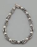 Silver Smalls:Other , A SILVER LINK NECKLACE. Probably American, 20th century. Marks:925. 17 inches long (43.2 cm). 4.37 ounces. ...