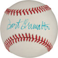 Autographs:Baseballs, Late 1980's Bart Giamatti Single Signed Baseball....