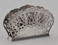 Silver Holloware, American:Other , A DANISH SILVER NAPKIN HOLDER. Probably Emil Christiansen, Odese,Denmark, 20th century. Marks: (crown over EC), STERLING,...