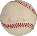 Autographs:Baseballs, 1940's Harry Heilmann Signed Baseball....