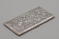 Silver Smalls:Cigarette Cases, A SILVER BRIGHT-CUT CIGARETTE CASE. Probably American, circa 1900.Marks: STERLING, 950. 6-1/2 inches wide (16.5 cm). 5....