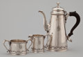 Silver Holloware, American:Coffee Pots, AN AMERICAN SILVER COFFEE POT, CREAMER AND SUGAR BOWL . Bailey,Banks & Biddle Co., Philadelphia, Pennsylvania, circa 1910. ...(Total: 3 Items Items)