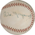 Autographs:Baseballs, Circa 1930 Rube Marquard Single Signed Baseball....