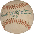 "Autographs:Baseballs, 1950's Frank ""Lefty"" O'Doul Single Signed Baseball...."