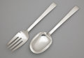 Silver Flatware, American:International, AN AMERICAN SILVER SALAD SERVING SET . International Silver Co.,Meriden, Connecticut, circa 1950. Marks: INTERNATIONAL, S...(Total: 2 Items Items)