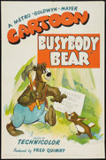 "Movie Posters:Animated, Busybody Bear (MGM, 1952). One Sheet (27"" X 41""). Animated.. ..."