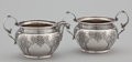 Silver Holloware, American:Creamers and Sugars, AN AMERICAN SILVER CREAMER AND SUGAR BOWL. Gorham ManufacturingCo., Providence, Rhode Island, circa 1920. Marks: GORHAM...(Total: 2 Items)