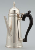 Silver Holloware, American:Coffee Pots, AN AMERICAN SILVER COFFEE POT . The Stieff Company, Baltimore,Maryland, circa 1940. Marks: Williamsburg 2 STIEFFSTERLING...