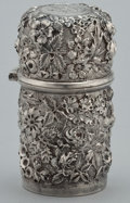Silver Holloware, American:Tea Caddies, AN AMERICAN SILVER BOTTLE . Jacobi & Jenkins, Baltimore,Maryland, circa 1880. Marks: JACOBI & JENKINS, STERLING925/1000 ...