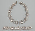 Silver Smalls:Other , A MEXICAN SILVER NECKLACE AND BRACELET . Los Castillo, Taxco,Mexico, circa 1960. Marks: MADE IN MEXICO STERLING, TAXCO LO...(Total: 2 Items)