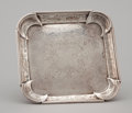Silver Holloware, British:Holloware, A GEORGE I ENGRAVED FOOTED SILVER TRAY . John Tuite, London,England, circa 1724-1725. Marks: (lion passant) , (leopard's he...