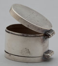 Silver Smalls:Other , AN AMERICAN SILVER NUTMEG GRATER . Jenkins & Jenkins,Baltimore, Maryland, circa 1910. Marks: JENKINS & JENKINS,INC., MAK...