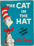 "Books:First Editions, Dr. Seuss. The Cat in the Hat. [New York]: Random House,[1957].. First edition, first issue, with ""200/200"" o..."