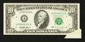 Error Notes:Attached Tabs, Fr. 2031-A $10 1995 Federal Reserve Note. Choice AboutUncirculated.. ...