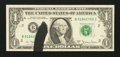 Error Notes:Ink Smears, Fr. 1910-B $1 1977A Federal Reserve Note. Very Choice CrispUncirculated.. ...