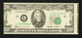 Error Notes:Miscellaneous Errors, Fr. 2075-L $20 1985 Federal Reserve Note. Choice About Uncirculated.. ...
