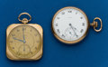 Timepieces:Pocket (post 1900), Two - 12 Size, Pocket Watches. ... (Total: 2 Items)
