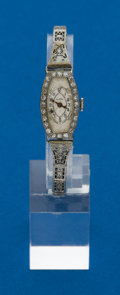 Timepieces:Wristwatch, Swiss, Diamond & Gold, Ladies Wristwatch & Band. ...