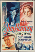 "Movie Posters:Mystery, Jim Hanvey Detective (Republic, 1937). One Sheet (27"" X 41""). Mystery.. ..."