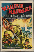 "Movie Posters:War, Marine Raiders (RKO, R-1950). One Sheet (27"" X 41""). War.. ..."
