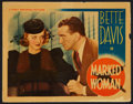 "Movie Posters:Crime, Marked Woman (Warner Brothers, 1937). Lobby Card (11"" X 14"").Crime.. ..."