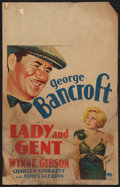 "Movie Posters:Sports, Lady and Gent (Paramount, 1932). Window Card (14"" X 22""). Sports.. ..."