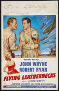 "Movie Posters:War, Flying Leathernecks (RKO, 1951). Window Card (14"" X 22""). War.. ..."
