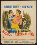 "Movie Posters:Comedy, Without Reservations (RKO, 1946). Window Card (14"" X 17""). Comedy.. ..."