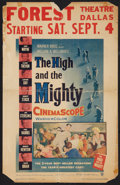 "Movie Posters:Adventure, The High and the Mighty (Warner Brothers, 1954). Window Card (14"" X22""). Adventure.. ..."