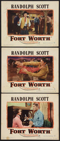 """Movie Posters:Western, Fort Worth (Warner Brothers, 1951). Lobby Cards (3) (11"""" X 14""""). Western.. ... (Total: 3 Items)"""