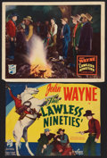 """Movie Posters:Western, The Lawless Nineties (Republic, 1936). Title Lobby Card (9.5"""" X 13"""") & Lobby Card (11"""" X 14""""). Western.. ... (Total: 2 Items)"""
