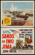 "Movie Posters:War, Sands of Iwo Jima (Republic, 1950). Title Lobby Card & LobbyCard (11"" X 14""). War.. ... (Total: 2 Items)"