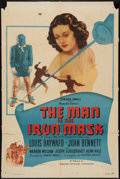 """Movie Posters:Adventure, The Man in the Iron Mask (PRC, R-1947). One Sheet (27"""" X 41"""") andLobby Card (1) (11"""" X 14""""). Adventure.. ... (Total: 2 Items)"""