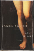 Books:Signed Editions, James Salter. Last Night. New York: Alfred A. Knopf, 2005. First edition. Signed by the author on the title page. ...
