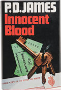 Books:Signed Editions, P. D. James. Innocent Blood. London Boston: Faber and Faber, [1980]. First edition. Signed by the author on the ...
