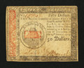 Colonial Notes:Continental Congress Issues, Continental Currency January 14, 1779 $50 Extremely Fine-AboutNew.. ...