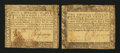 Colonial Notes:Maryland, Maryland August 14, 1776 $1/3; $1/2 Very Good.. ... (Total: 2notes)