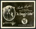 "Movie Posters:Comedy, A Dog's Life (First National, 1918). Title Lobby Card (8"" X 10"").Comedy.. ..."